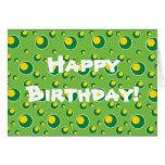 Personalizado amarillo verde de la tarjeta de feli