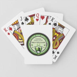 Personalizado añada su logotipo conocido del golf cartas de juego