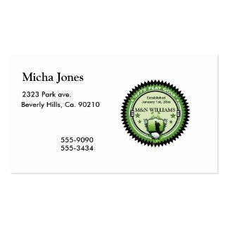 Personalizado añada su logotipo conocido del golf tarjetas de visita