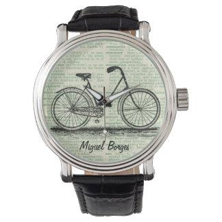 Personalizado antiguo del verde del arte de la relojes de mano