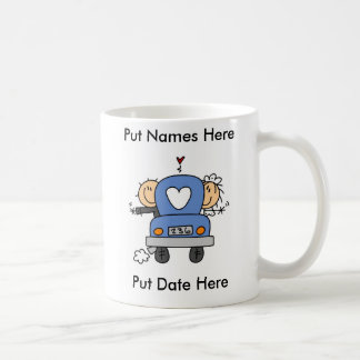 Personalizado apenas casado casando la taza la taz