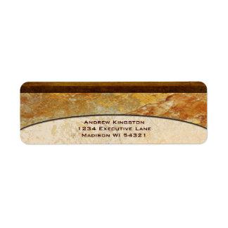Personalizado arquitectónico de mármol de piedra etiqueta de remite