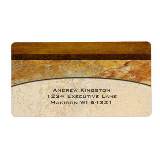 Personalizado arquitectónico de mármol de piedra etiquetas de envío