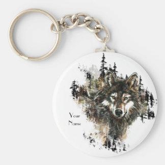 Personalizado, arte personalizado del animal de la llavero redondo tipo pin