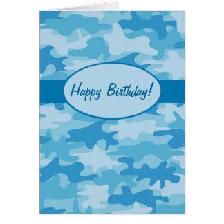 Personalizado azul del feliz cumpleaños del tarjeta de felicitación
