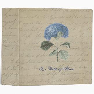 """Personalizado azul del recuerdo del boda del carpeta 2"""""""