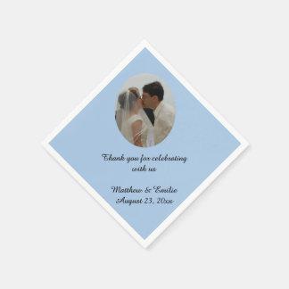 Personalizado azul personalizado casando servilleta de papel