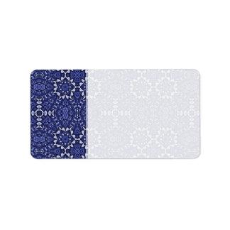 Personalizado azul púrpura del modelo del caleidos etiquetas de dirección