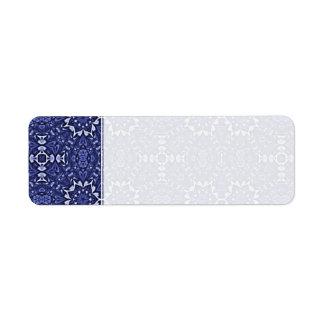 Personalizado azul púrpura del modelo del caleidos etiquetas de remite