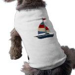 Personalizado azul, rojo, poner crema náutico del  prenda mascota