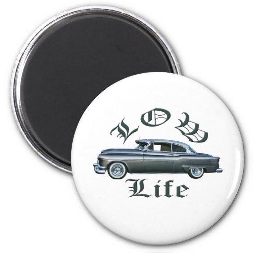 personalizado bajo de Oldsmobile de los años 50 de Imán Redondo 5 Cm
