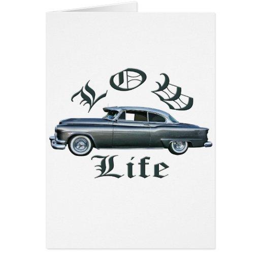 personalizado bajo de Oldsmobile de los años 50 de Tarjeta De Felicitación