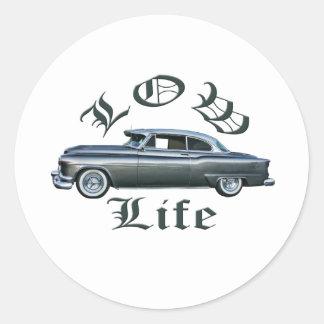 personalizado bajo de Oldsmobile de los años 50 Etiquetas Redondas
