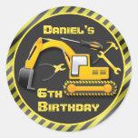Personalizado bajo fiesta de cumpleaños de la etiquetas redondas