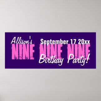 Personalizado bandera de la fiesta de cumpleaños d posters