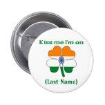 Personalizado béseme que soy botón indio pin