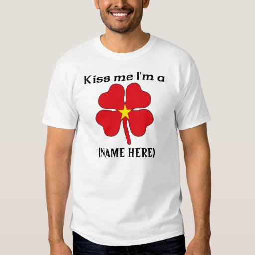 Personalizado béseme que soy camiseta de Vietamese Camisas