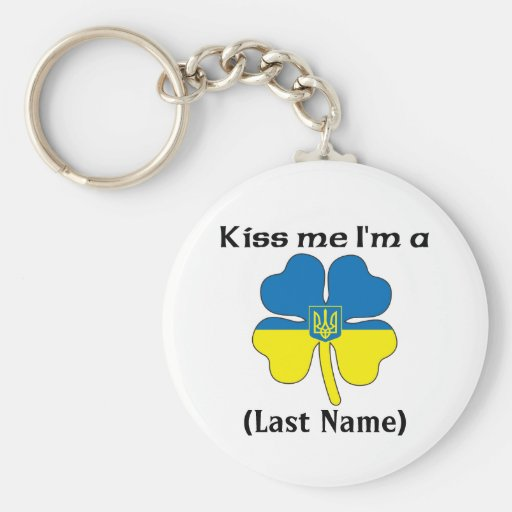 Personalizado béseme que soy llavero ucraniano