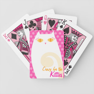 Personalizado blanco bonito del gatito barajas de cartas