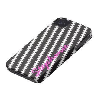 Personalizado blanco negro del caso 4s del iPhone Case-Mate iPhone 4 Protector