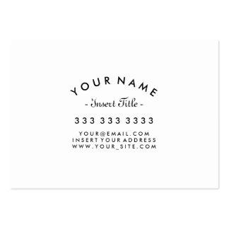 Personalizado blanco y negro profesional curvado tarjetas de visita grandes