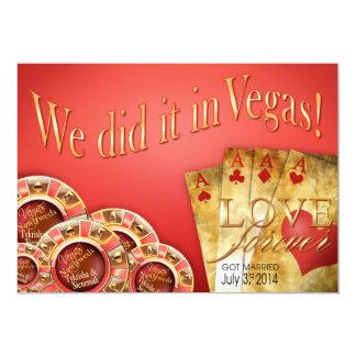 :: PERSONALIZADO:: Boda de lujo de Las Vegas del Invitación 12,7 X 17,8 Cm