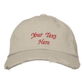 Personalizado bordado personalizado del casquillo/ gorra de beisbol