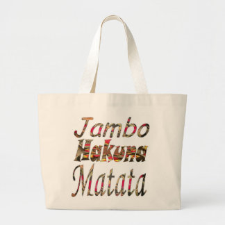 Personalizado bravucón elegante de Jambo Hakuna Ma Bolsas De Mano
