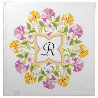 Personalizado brillante de la mandala de los servilleta de papel