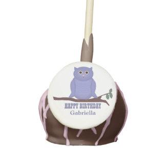 Personalizado Búho púrpura Estallidos de la tort