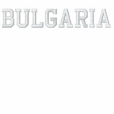 Personalizado Bulgaria de la capilla del ya del re Sudadera Bordada Con Serigrafia