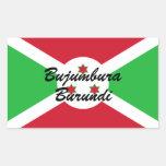 Personalizado Burundi de Africankoko Pegatina Rectangular