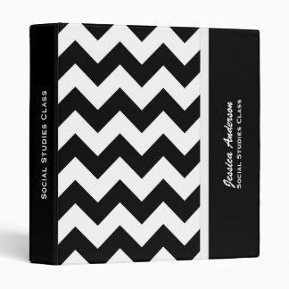 Personalizado: Carpeta blanco y negro 2 de Chevron