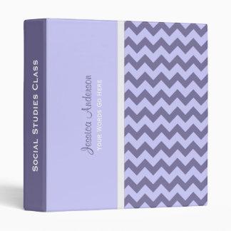 Personalizado: Carpeta púrpura de Chevron