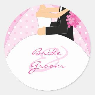 Personalizado casando a los pegatinas etiquetas redondas