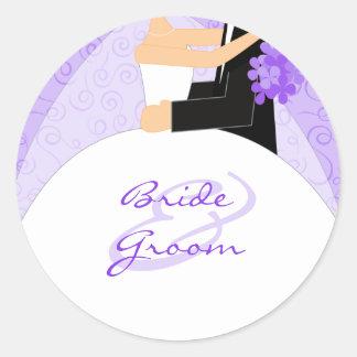 Personalizado casando a los pegatinas pegatinas redondas