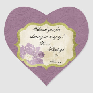 Personalizado casando a los pegatinas del favor pegatina en forma de corazón