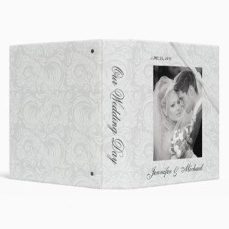 """Personalizado casando el álbum - damasco blanco carpeta 1 1/2"""""""