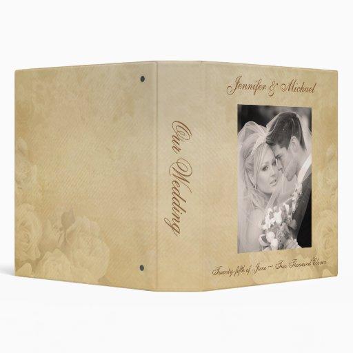Personalizado casando el álbum - rosas antiguos