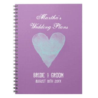 Personalizado casando el cuaderno del organizador
