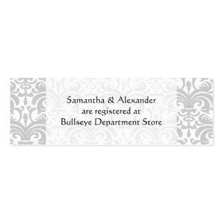 Personalizado casando el parte movible de las tarj plantilla de tarjeta de visita