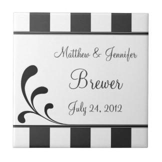 Personalizado casando el regalo y el recuerdo de l azulejo cuadrado pequeño