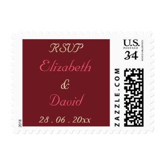 Personalizado casando el sello de la postal de