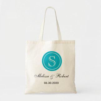 Personalizado casando el tote Bag|Turquoise del Bolsa Tela Barata