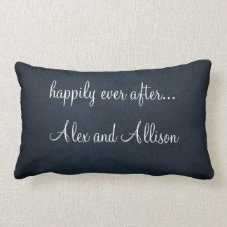 Personalizado casando la almohada con cita del cojín lumbar
