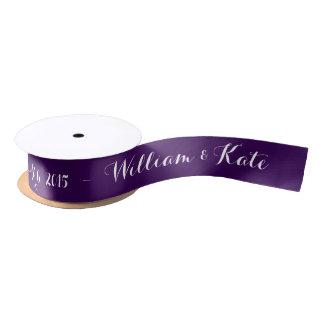 Personalizado casando la cinta elija la cinta del lazo de raso