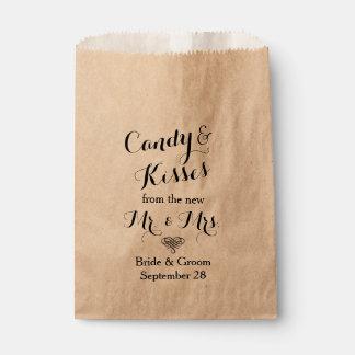 Personalizado casando la comida fría de la barra bolsas de recuerdo