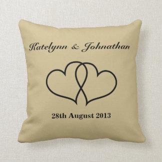 Personalizado casando la fecha almohadas