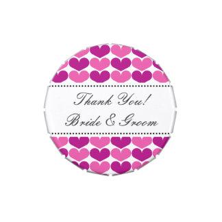 Personalizado casando la lata del caramelo del fav frascos de caramelos