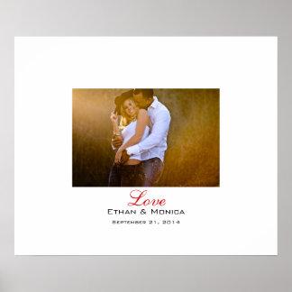 Personalizado casando la lona de la firma póster